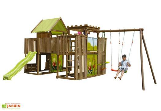 aire de jeux en bois
