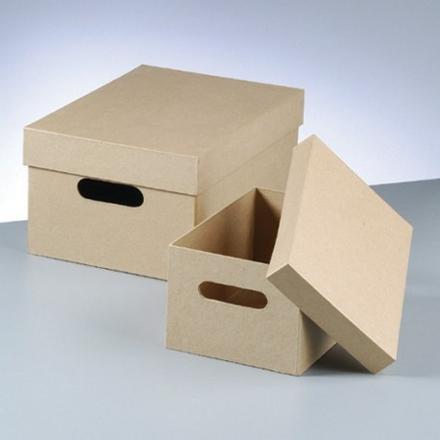 boite de rangement en carton avec couvercle