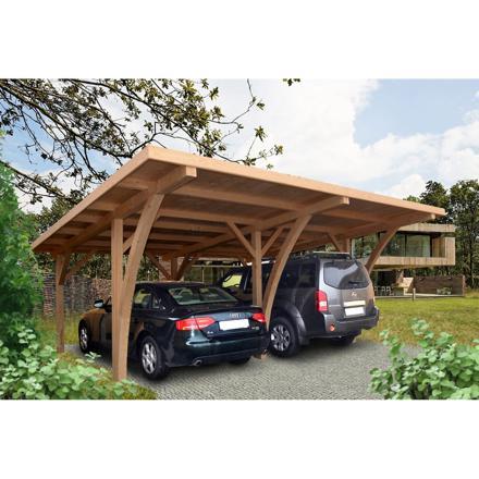 carport bois 2 voitures
