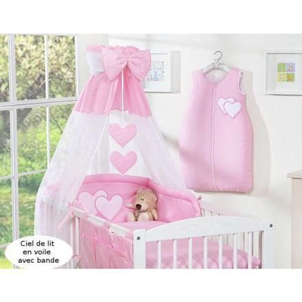 ciel de lit bébé rose