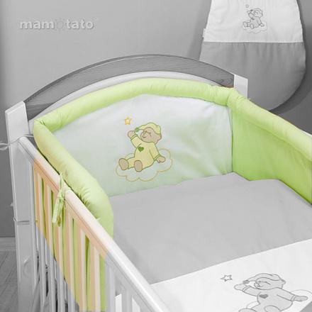 tour de lit vert