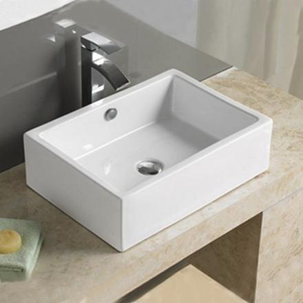 vasque à poser rectangulaire