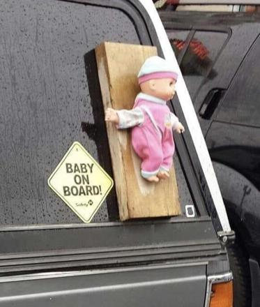 baby on a board