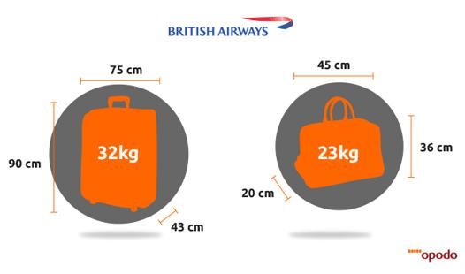 bagage à main british airways