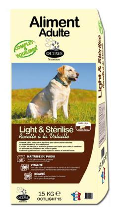 croquette light chien