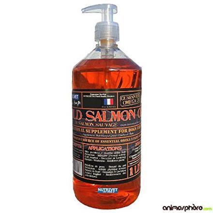 huile saumon chien