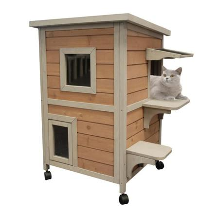 maison pour chat en bois