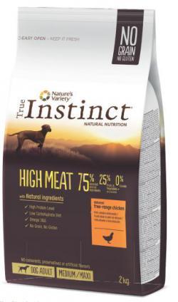 true instinct high meat chien