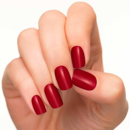 vernis rouge mat