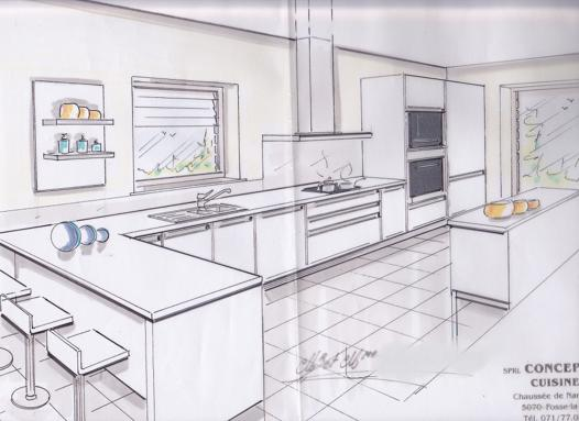 dessiner une cuisine