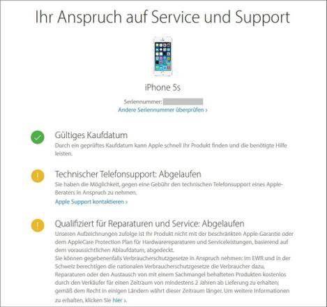 garantie apple iphone