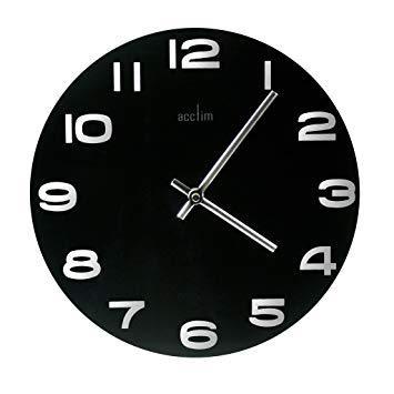horloge murale noire