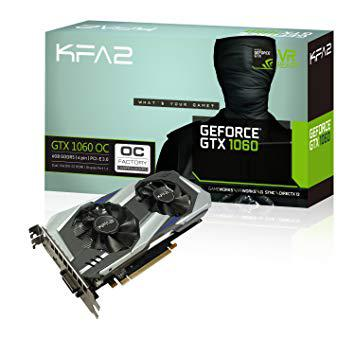 kfa2 geforce gtx 1060 oc 6 go