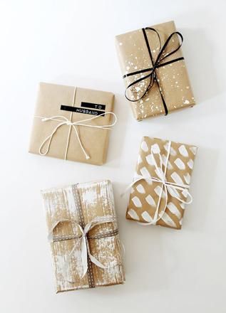 papier cadeau kraft